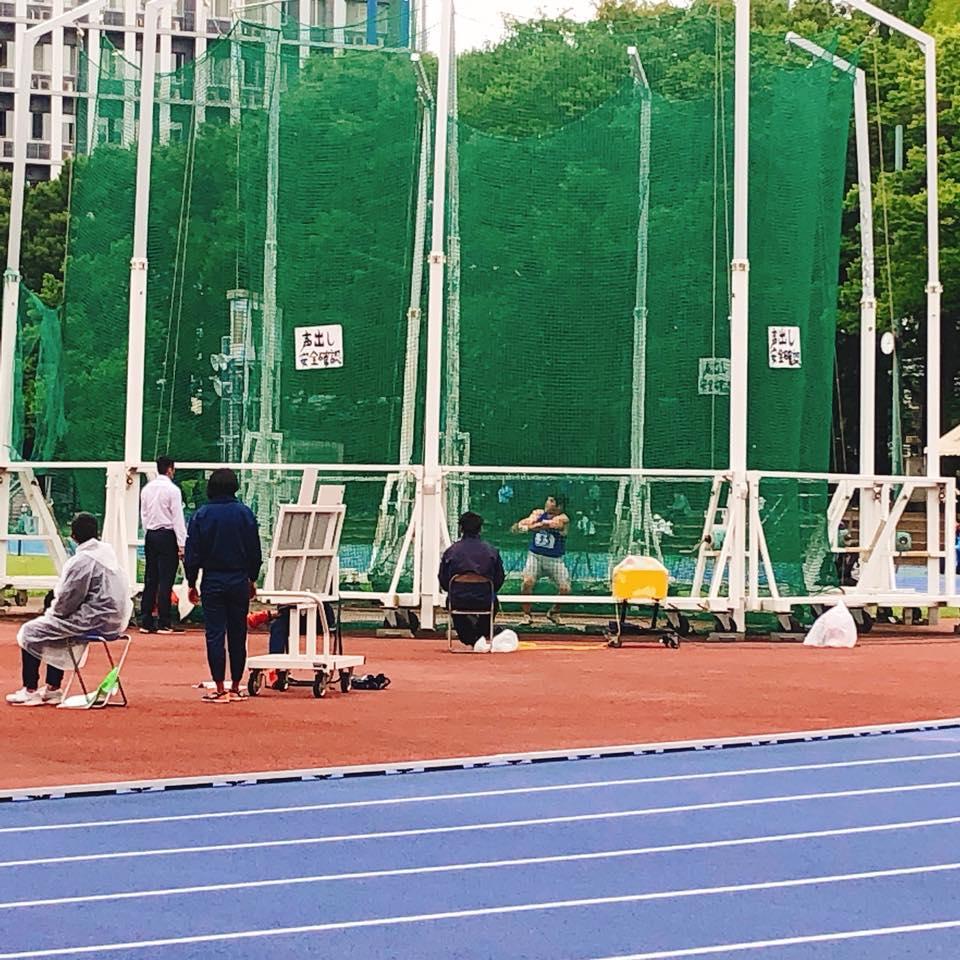 今日は日本学生陸上個人選手権の応援でした。