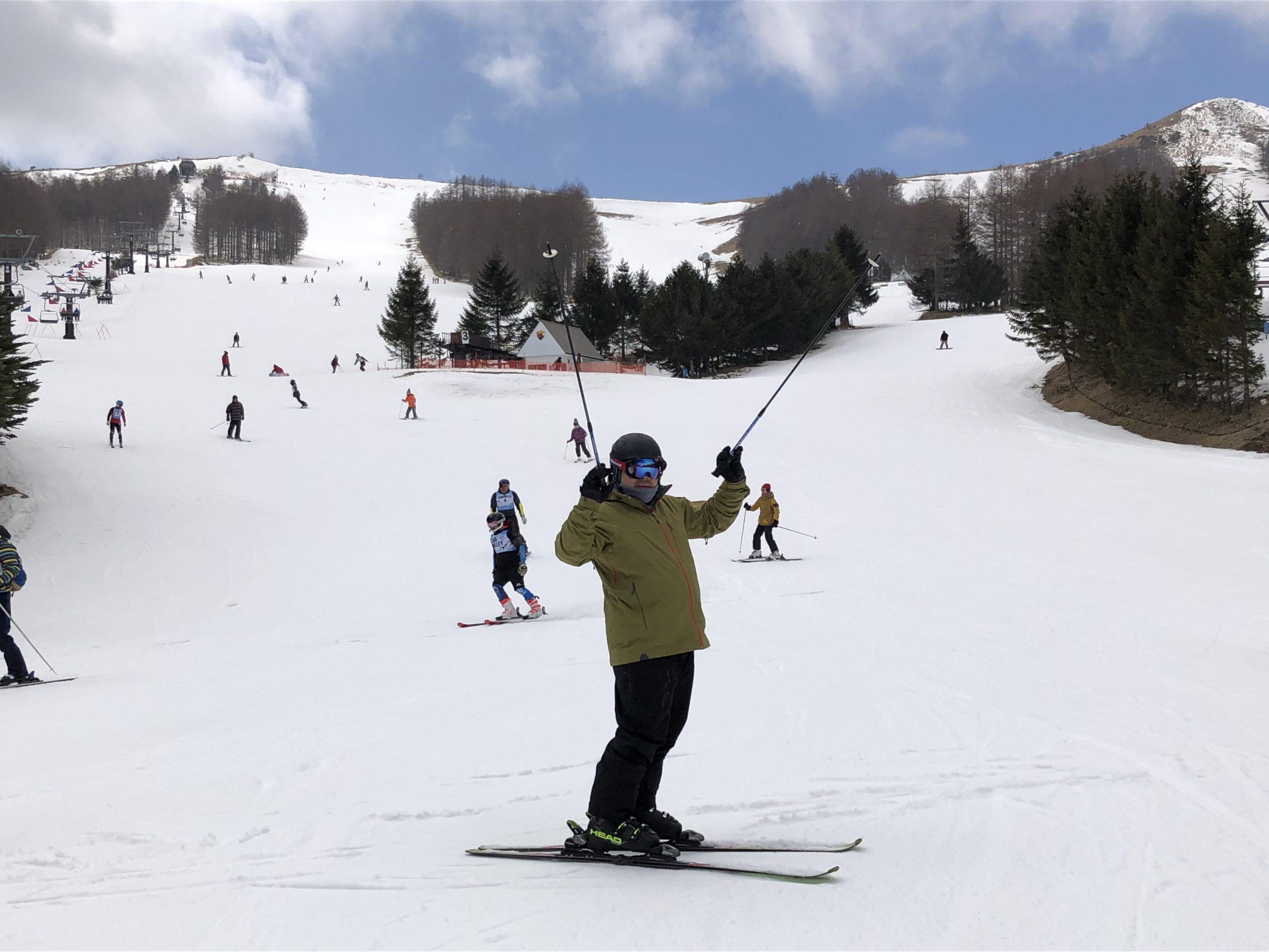 エコーバレーでスキーをしてきました。