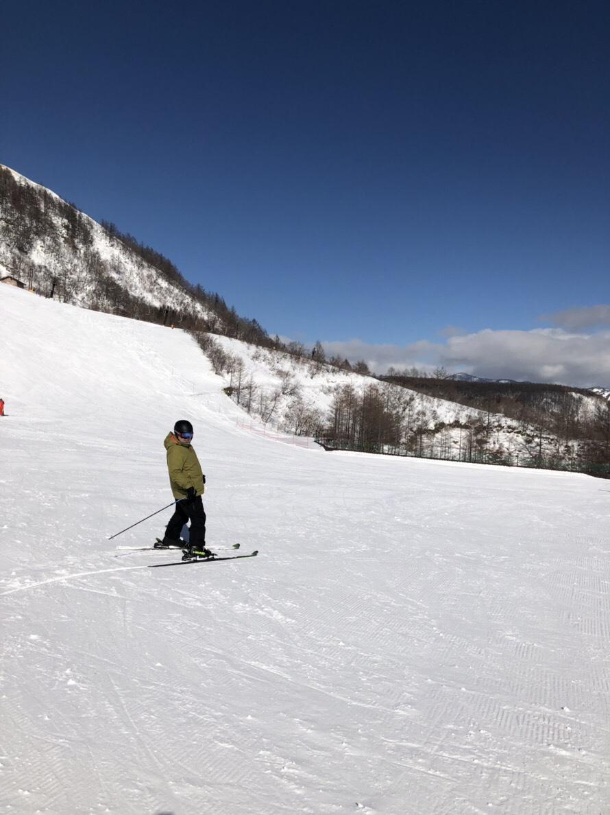 草津温泉でスキーをしてきました