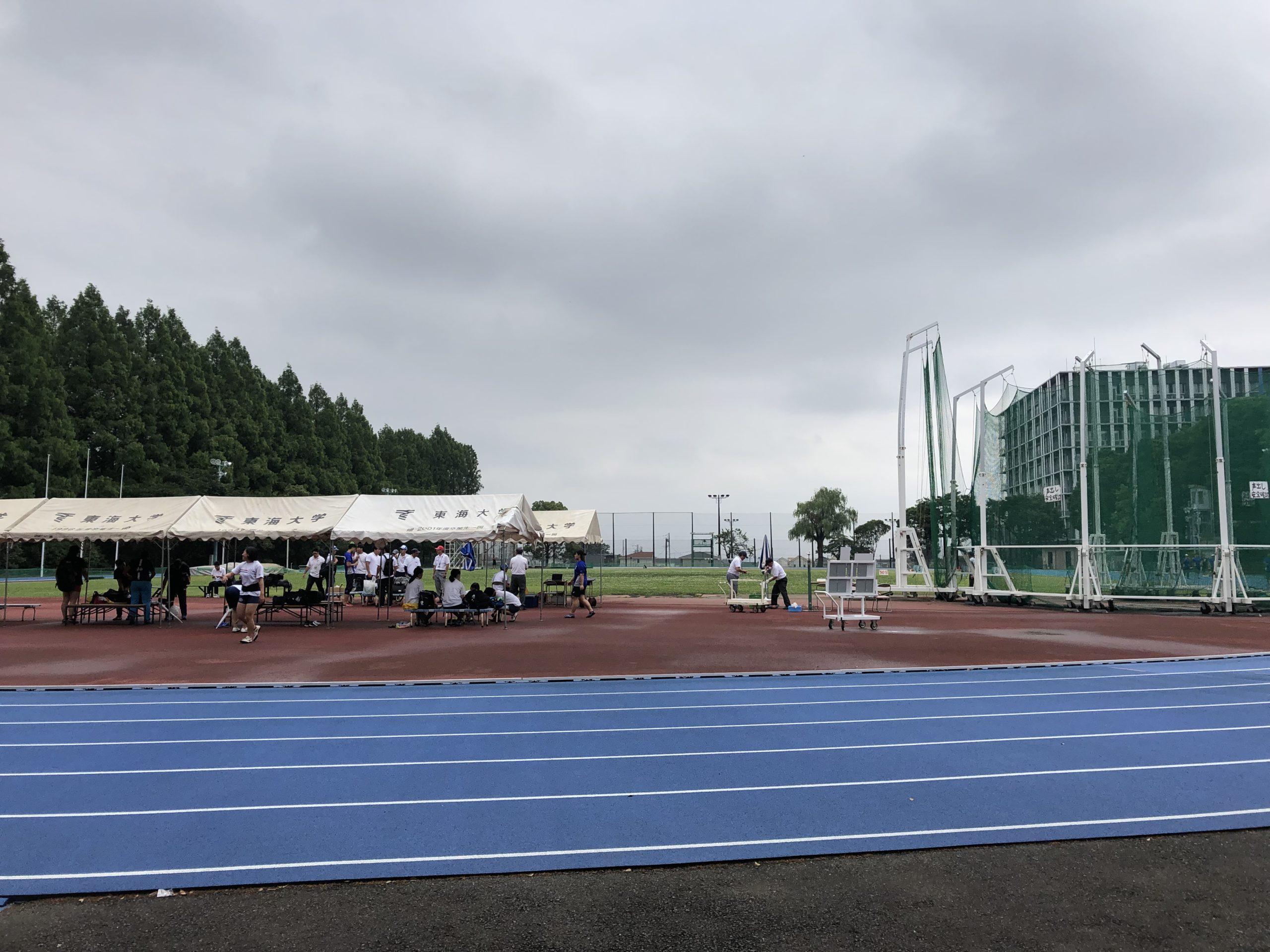 日本学生個人選手権の応援に行ってきました